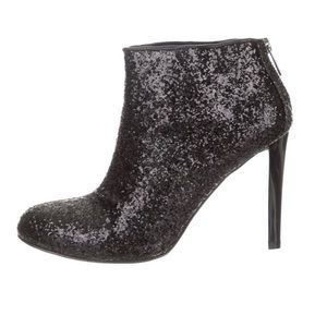 glitter Tory Burch round-toe ankle boots 🦋❤️🦋